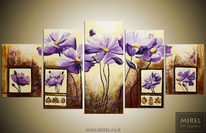פרחים סגולים קלאסיים