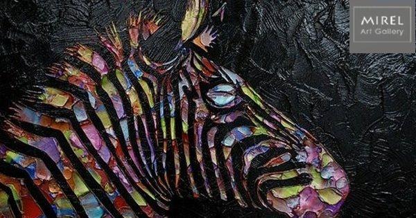 זברה בצבעי קשת