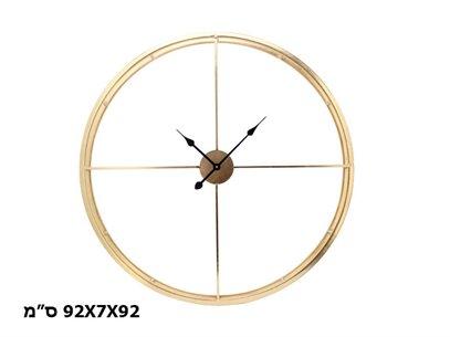 שעון מינימליסטי מוזהב