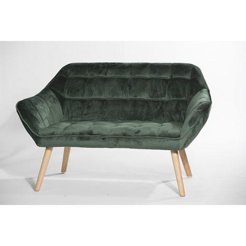 ספה זוגית ירוק קטיפה