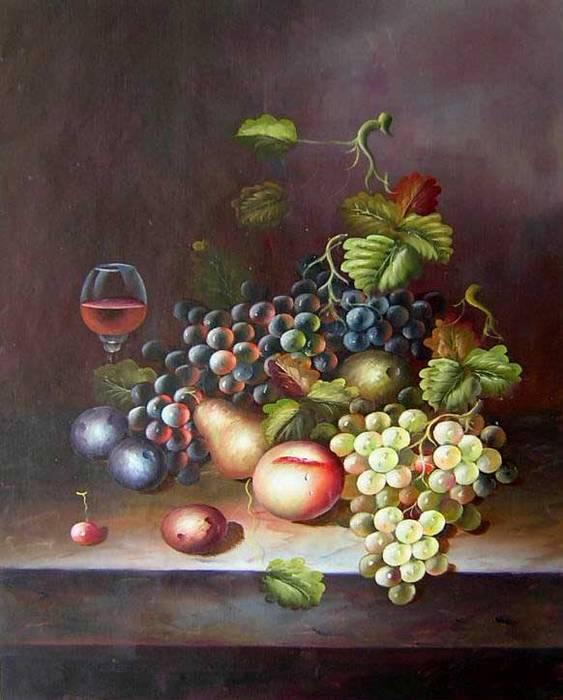 פירות ויין מיושן