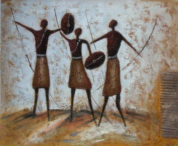 ציור שבט אפריקאי