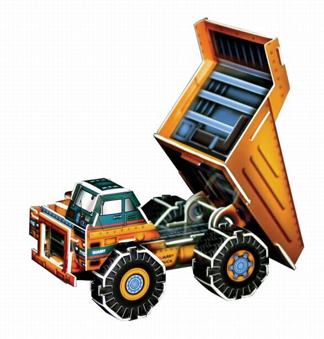 פאזל תלת מימד -משאית פסולת