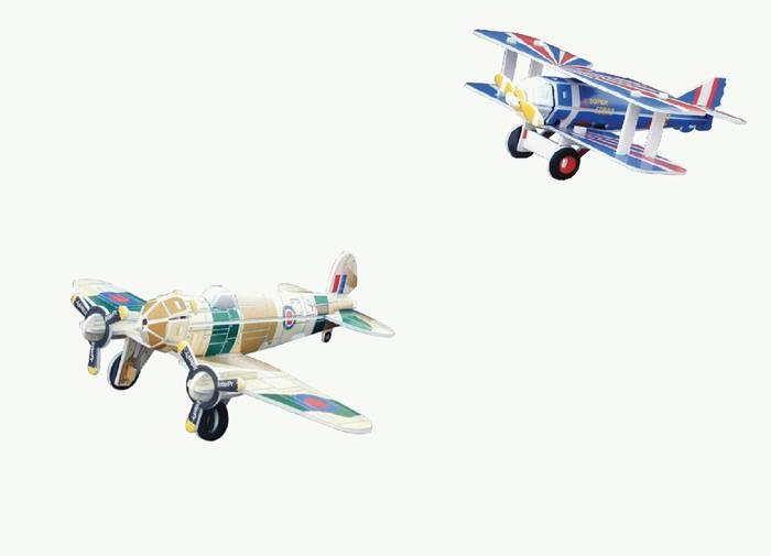 פאזל תלת מימד -מטוסים דגמים C&D
