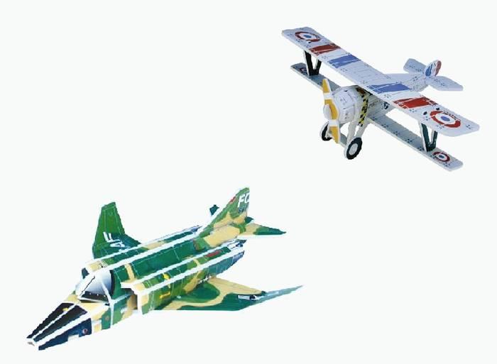 פאזל תלת מימד -מטוסים דגמים I&J
