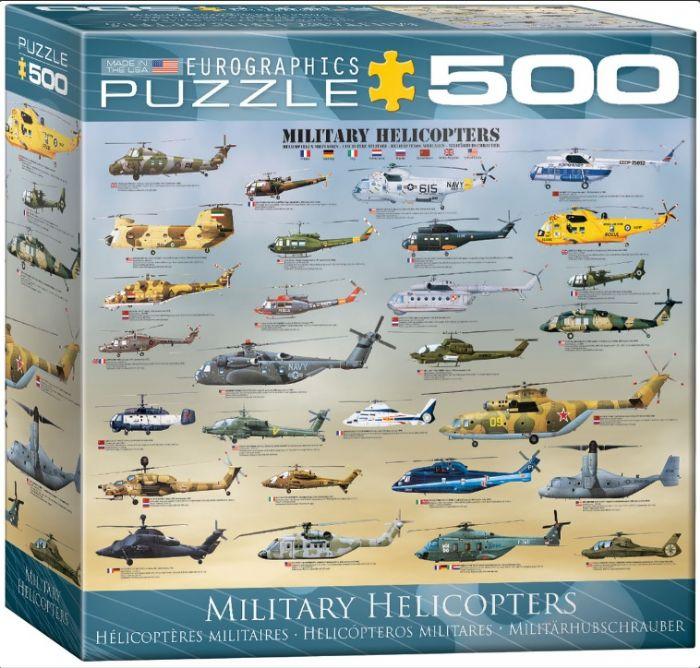 פאזל 500 חלקים - הליקופטרים צבאיים