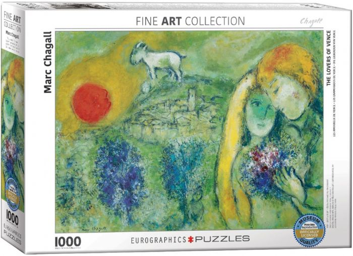 פאזל 1000 חלקים - ציור של מארק שגל - לוברס אוף ונס