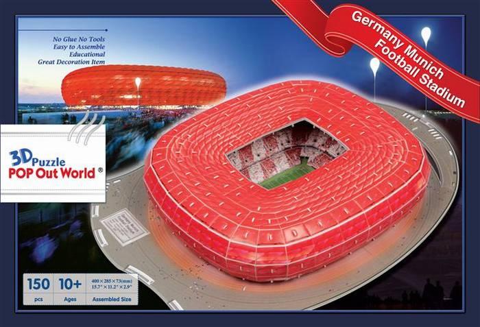 פאזל תלת מימד - איצטדיון מינכן בגרמניה