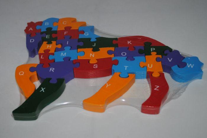 פאזל מעץ לילדים  צורת סוס