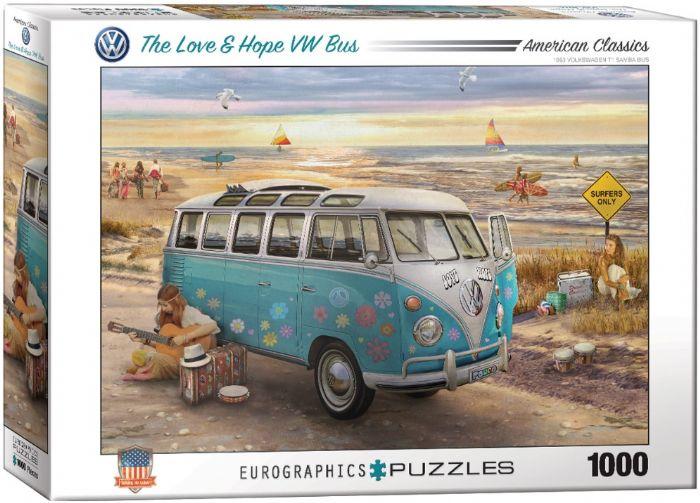 פאזל 1000 חלקים - אוטובוס של אהבה ותקווה