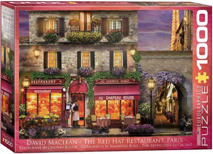 פאזל 1000 חלקים - מסעדת הכובע האדום בפריז