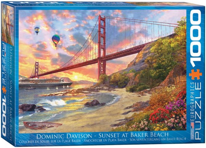 פאזל 1000 חלקים - SUNSET AT BAKER BEACH