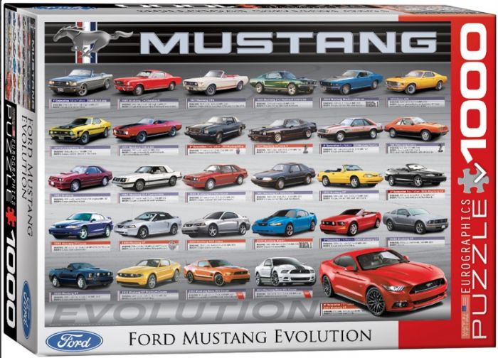 פאזל 1000 חלקים - אבולוציה של פורד מוסטנג
