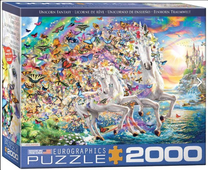 פאזל 2000 חלקים - פנטזיית חדי קרן