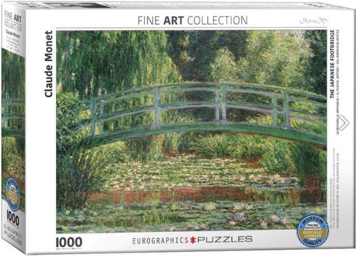 פאזל 1000 חלקים - ציור של מונה - גשר יפני