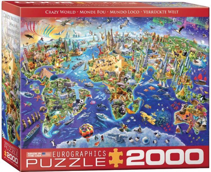 פאזל 2000 חלקים -  עולם מטורף