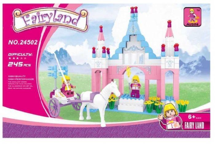 משחק הרכבה - ארמון נסיכות עם כרכרה וסוס