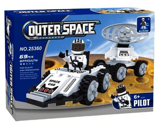 משחק הרכבה - מכונית חלל עם לווין
