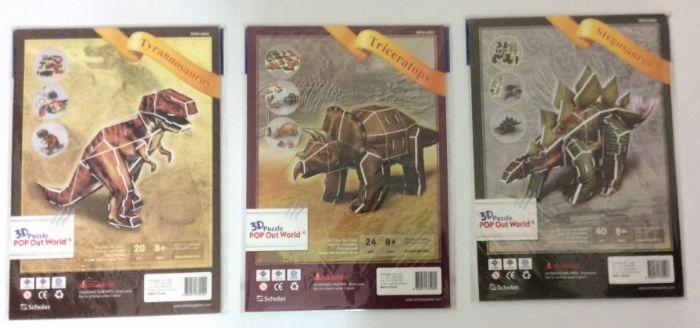 סט של 3 דינוזאורים