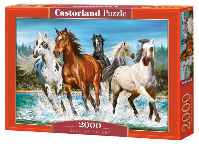 פאזל 2000 חלקים - תמונת סוסים