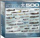 פאזל 500 חלקים - מטוסי קרב ממלחמת העולם השנייה
