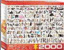 פאזל 2000 חלקים - עולם החתולים