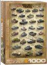 פאזל 1000 חלקים - טנקים ממלחמת העולם השנייה