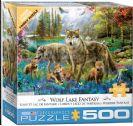 פאזל 500 חלקים - זאבים ליד הנהר