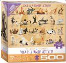פאזל 500 חלקים - יוגה זה פעילות משפחתית