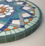שעון פסיפס  קרמיקה ---נמכר--- Ceramic mosaic  Ǿ30