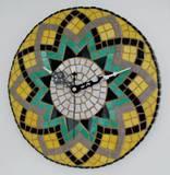שעון פסיפס  קרמיקה לירון ---מתנה---Ceramic mosaic  Ǿ30