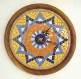 שעון פסיפס קרמיקה למוסך סדן ---מתנה--- Ceramic mosaic Ǿ30-