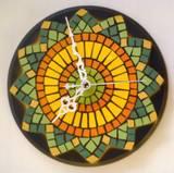 שעון פסיפס  קרמיקה מאיר ---מתנה--- Ceramic mosaic  Ǿ30
