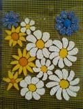 פרחים על רשת ליצירת פסיפס