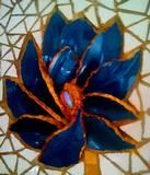 פרח כחול - מיחזור כלים