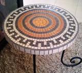 שולחן פסיפס לקפה - קרמיקה Coffee Table - Ceramic