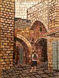 סמטה בעכו --- אוסף אישי --- פסיפס אבן  - Stone mosaic  30X40