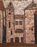 ככר השעון --- פסיפס אבן  Stone mosaic נמכר 30X40