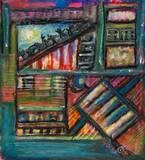ללא כותרת - גירי שמן על קרטון    Oil pastels on paper  30x20