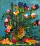 זר פרחים - אקריליק על קנבס - Bouguet - Acrylic on canvas  60x50