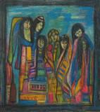 דמויות אתניות - אקריליק על קנבס