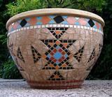 כד אינדיאני- קרמיקה ---נמכר---  Indian Jar - Ceramic  Ǿ40x26