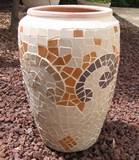 גדי - פסיפס קרמיקה  ---נמכר--- Goat - Ceramic mosaic Ǿ36x40