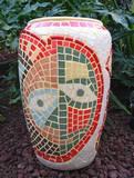 כד המסכות - פסיפס קרמיקה  The Mask Jar - Ceramic mosaic Ǿ30x46