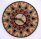 שעון פסיפס  אבן  ---אוסף אישי--- Stone mosaic  Ǿ40