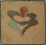 לבביות - פסיפס אבן warmhearted - stone mosaic 37x37