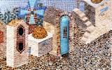הרחוב בירושלים - פסיפס אבן Jerusalem Street - stone 50X40