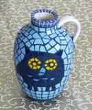 אגרטל ינשוף---נמכר--- Owl Vase 15X12
