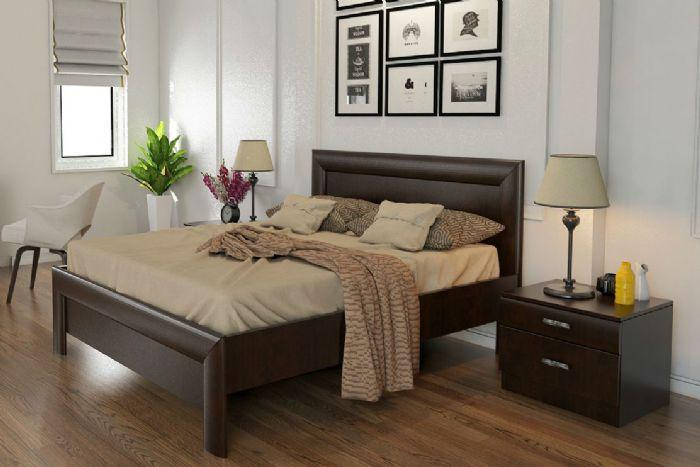 חדר שינה: מיטה זוגית פלזה ושידות