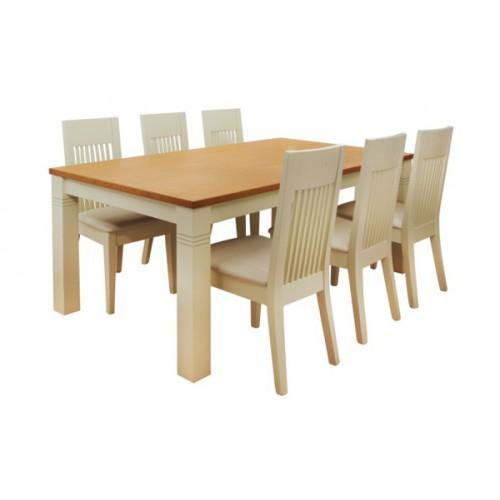 פינת אוכל ספיר שולחן בוק + 6 כסאות